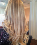 #60/18 Platinum & Caramel Blonde Foiled Clip In Hair Extensions 22-24""