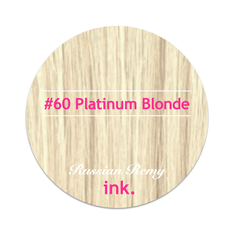#60 Platinum Blonde Foiled Clip In Hair Extensions 22-24""
