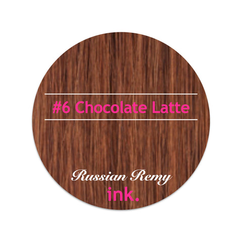 #6 Chocolate Latte Clip In Hair Extensions 22-24""