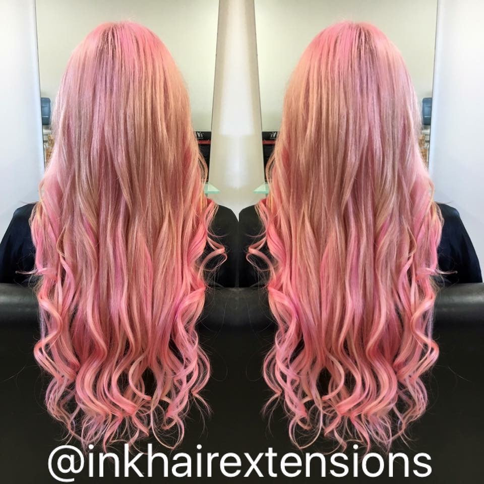 Full Head And A Half Of Hair Extensions Ink Hair Creations