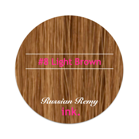 #8 Light Brown Clip In Hair Extensions 22-24""