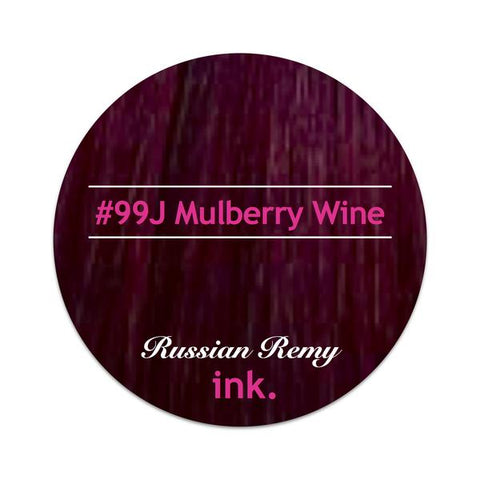 #99J Mulberry Wine Clip In Hair Extensions 22-24""
