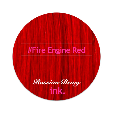 #FIRE Engine Red Clip In Hair Extensions 22-24""