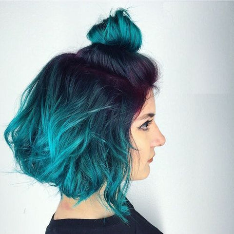 Crazy Colour Peacock Blue Ink Hair Creations