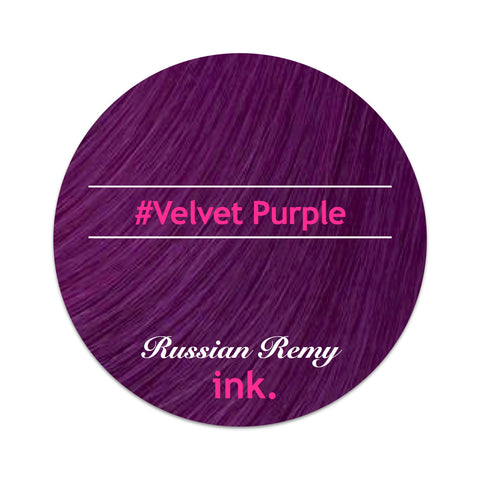 #Velvet Purple Tape Hair Extensions 22-24""