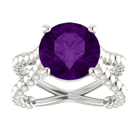Stunning Amethyst  &Sterling Silver Ring (Custom 5-7 weeks  Delivery ) - Mildred and Iolas Boutique - 1