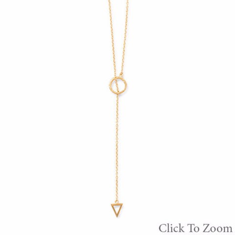 "24"" 14 Karat Gold Plated  Lariat Necklace - Mildred and Iolas Boutique"