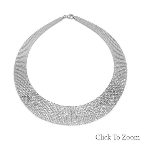 Rhodium Plated Cleopatra Style Necklace - Mildred and Iolas Boutique