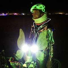 LED Hoodie Gold Burning Man