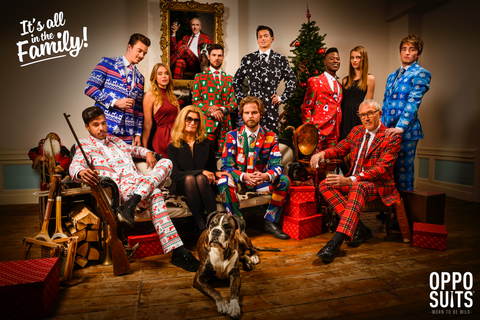Opposuits Christmas Family Foto