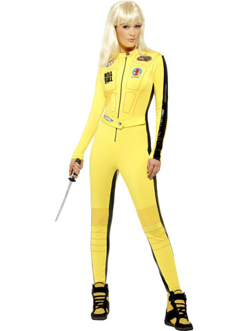 Smiffys Kill Bill Jumpsuit Kostüm Gelb