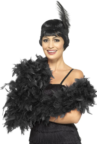 Feather boa deluxe black