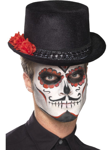Day of the Dead Top Hut mit Blumen (unisex)