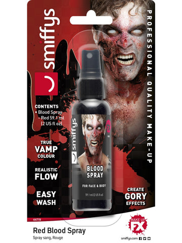 Artificial blood spray