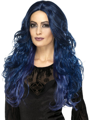 Blue witch wig