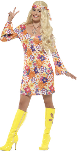 Flower power hippie ladies costume