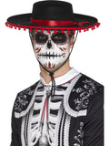 Day of the Dead Señor Hut (Schwarz & rot)