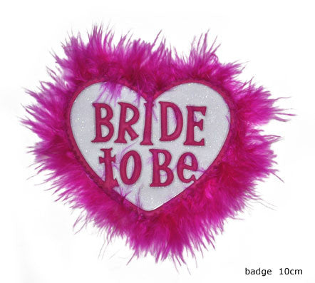 """BRIDE TO BE"" - Bachelorette Herz Anstecker"
