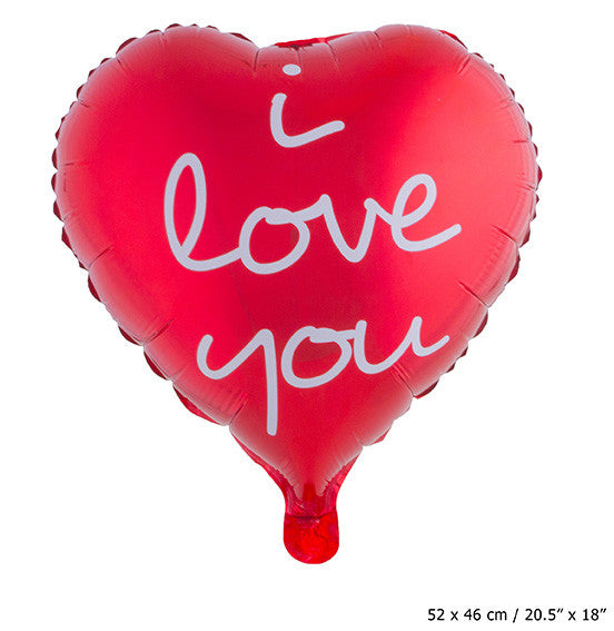 """I LOVE YOU"" Folienballon"