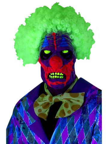 Black light clown mask