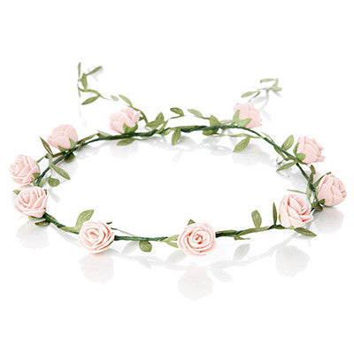 Flower hair wreath - various colors