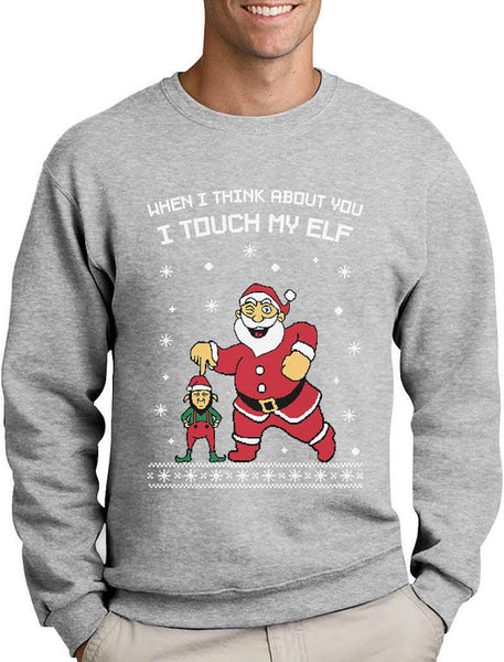 I Touch My Elf Ugly Christmas Sweater