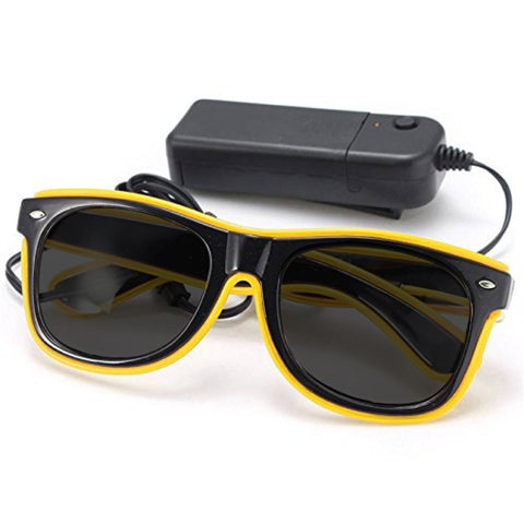 LED Sonnenbrille EL wire glasses