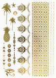 Metallic Body Tattoos - Ananas & Palmen