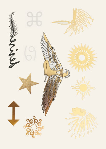 Metallic Body Tattoos - Indianer