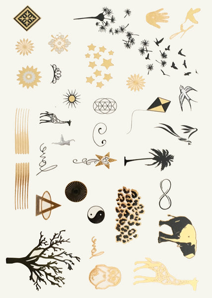 Metallic Body Tattoos - Safari