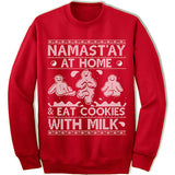 Namastay At Home Ugly Christmas Sweater