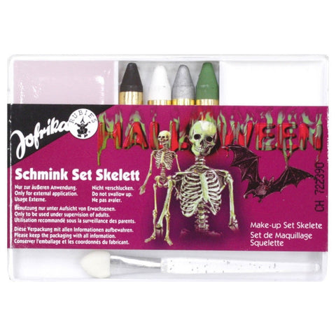 Halloween Schmink Set Skelett Makeup