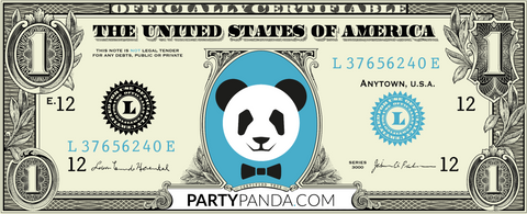 Panda Money 100 Dollar Noten