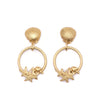gold seashell event dressing earrings