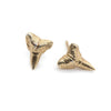 gold fossil earrings