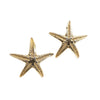 summer starfish gold earrings