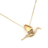 gold stork mothers necklace