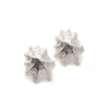 silver limpet holiday earrings