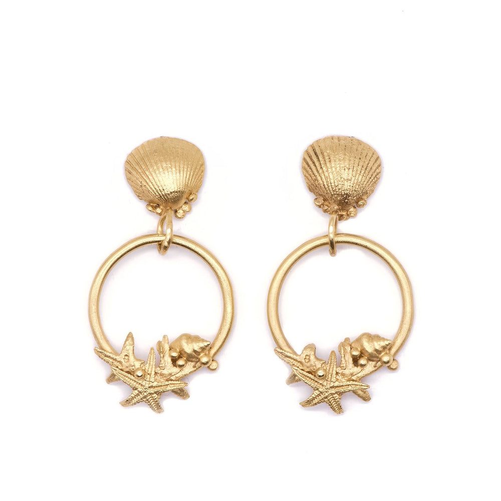 Gold Adastra Earrings