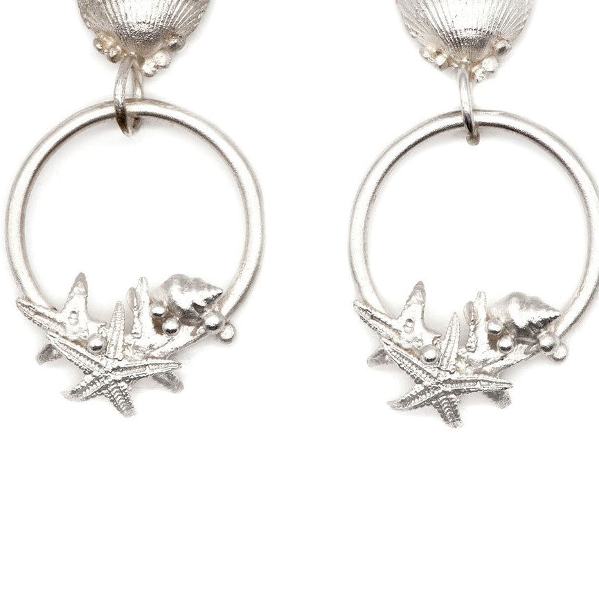 Load image into Gallery viewer, Silver Adastra Earrings