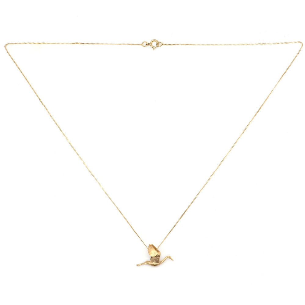 Solid Gold 'Stork' Necklace