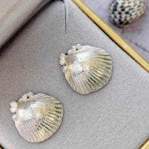 seashell statement earrings, christmas earring gifts, sterling silver gifts