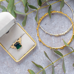 Emerald Mermaid Ring. Costume Jewellery. Jewellery trends for 2019