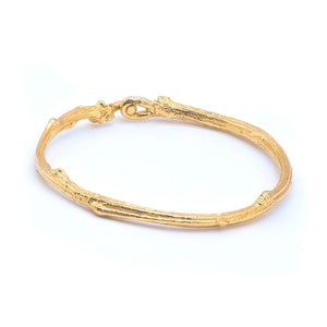 Load image into Gallery viewer, Gold Woodland Bangle