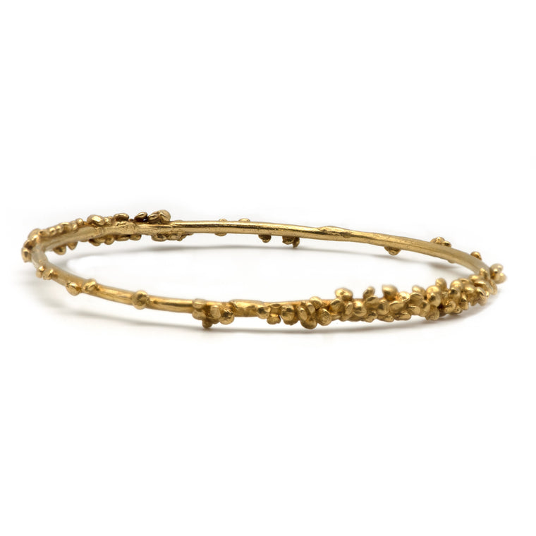 Grain Bangle in Gold