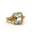 Ultimate Statement Cocktail Ring. Summer Ring. Green Aquamarine