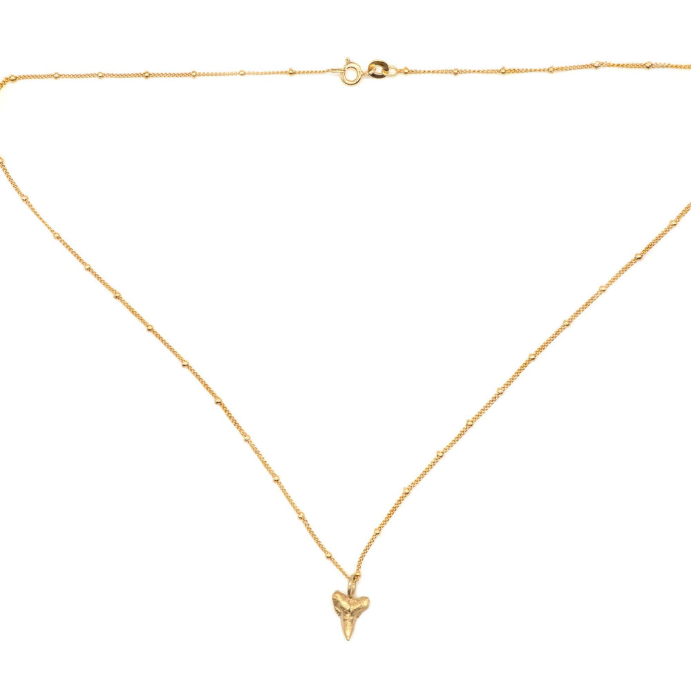 18ct gold sharks tooth necklace