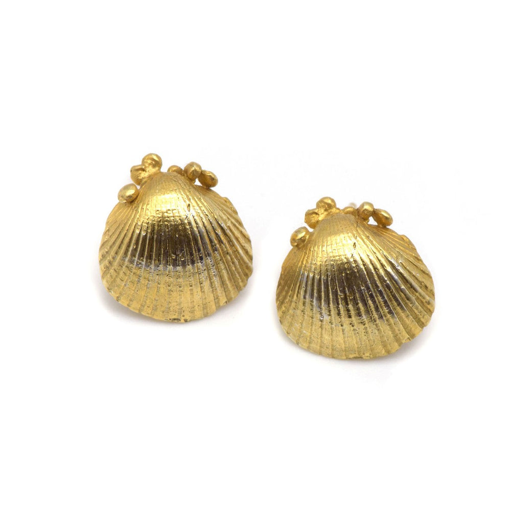 Seashell Studs 18ct Gold