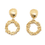 Gold Hiral Ocean Earrings