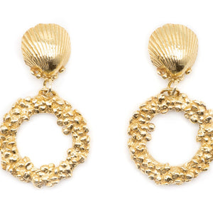 Load image into Gallery viewer, Gold Hiral Ocean Earrings